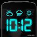 デジタル時計と天気