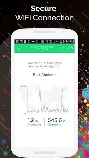 Touch VPN -Free VPN Proxy & WiFi Privacy 1.9.12 Screenshots 3