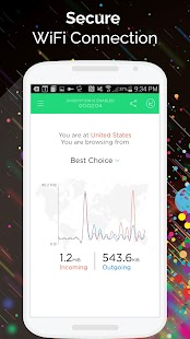 Touch VPN -Free Unlimited VPN Proxy & WiFi Privacy Screenshot