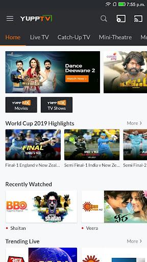 YuppTV - LiveTV, Movies, Music, IPL Live, Cricket screen 0