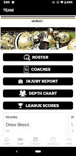 New Orleans Saints Mobile Screenshot