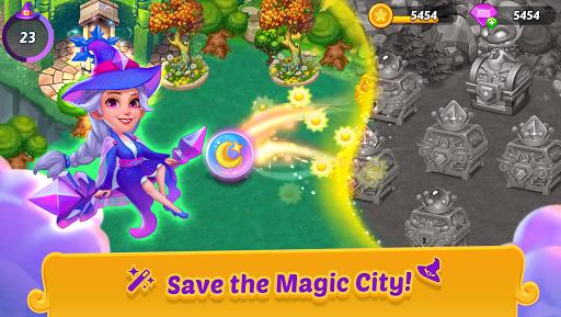 Merge Witches - merge&match to discover calm life Apkfinish screenshots 2