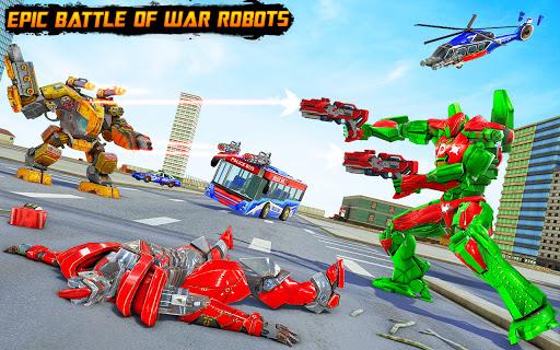 Bus Robot Car Transform War u2013Police Robot games 3.9 screenshots 6