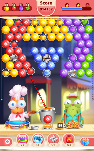 Kitten Games - Bubble Shooter Cooking Game apkmr screenshots 24