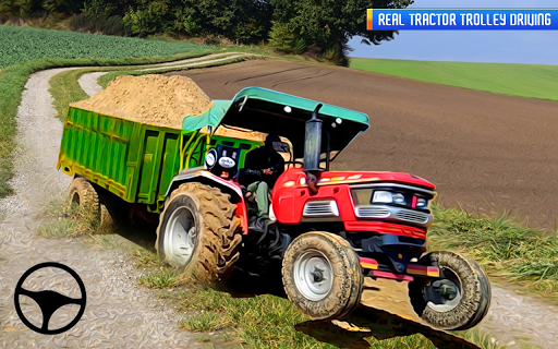 Télécharger Tractor Trolley: Offroad Driving Tractor Trolley APK MOD (Astuce) screenshots 1