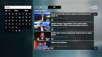 screenshot of YouTube for Google TV