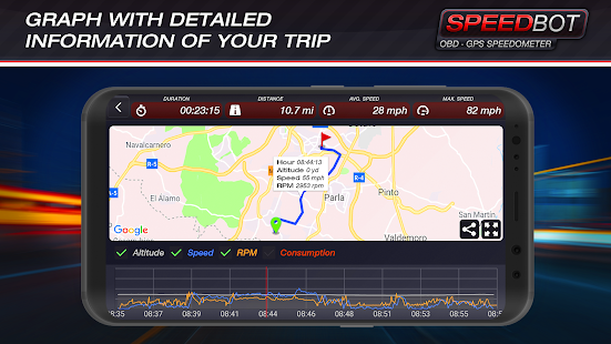 Speedbot. Free GPS/OBD2 Speedometer screenshots 6