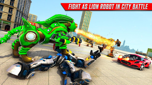 Lion Robot Car Transforming Games: Robot Shooting 1.8 Screenshots 18