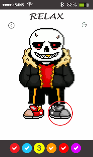 Sans Pixel Art - Paint By Number 1.7 pic 1