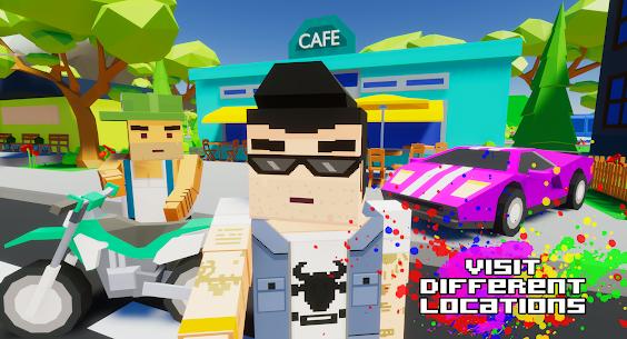 Gangster && Mafia Block City Dude Theft Pixel Car MOD APK 1.09 (Unlimited Money) 11