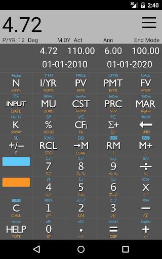 10bii Financial Calculator  screenshots 10