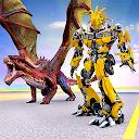 Flying Robot Dragon Game: Robot Transforming Games