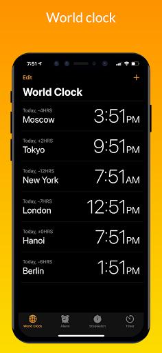 iClock iOS - Clock iPhone Xs, Phone 13 android2mod screenshots 4