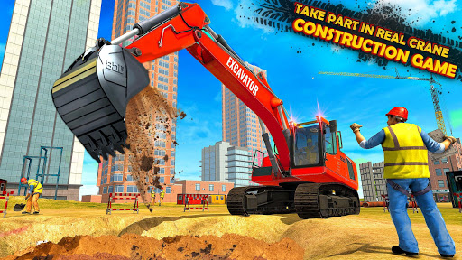 Heavy Excavator Simulator:Crane Construction Games 2.8 screenshots 1
