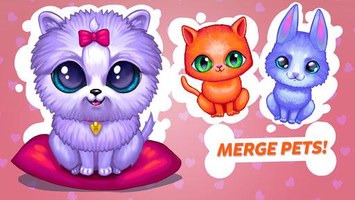 Merge Cute Animals 3: Fluffy Pet World Merger Game  screenshots 2