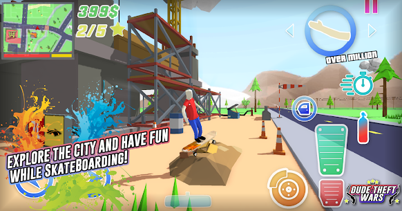Dude Theft Wars Mod Apk Download (Unlimited Money/Free Shopping) 8