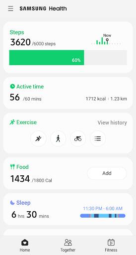 Samsung Health screenshot 1
