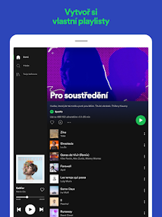 Spotify – hudba a podcasty Screenshot