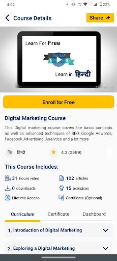 Free Online Courses & Tutorials + Certi LearnVern android2mod screenshots 4