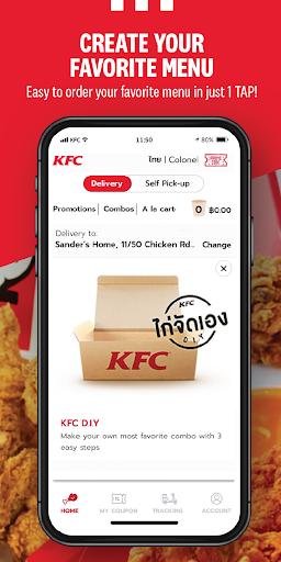 KFC Thailand-Online Food Ordering 2.2 Screenshots 2