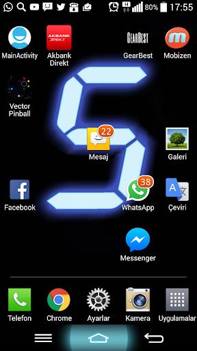 digital clock wallpaper screenshot 3