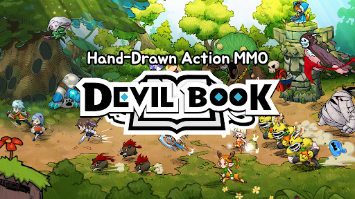 Devil Book: Hand-Drawn Action MMO apktreat screenshots 1