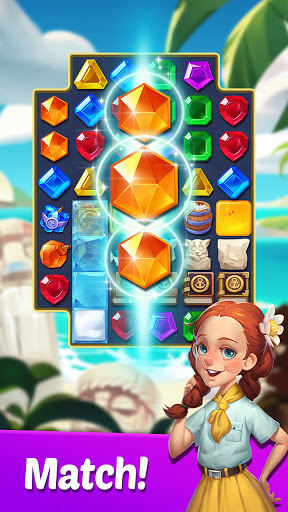Gems Voyage - Match 3 & Jewel Blast apktreat screenshots 1