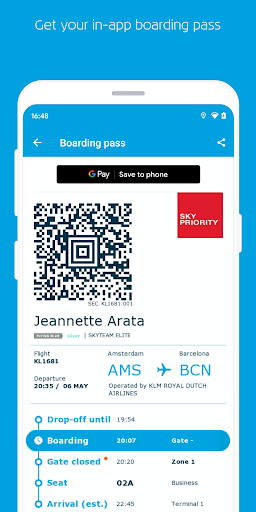 KLM u2013 Book flights and manage your trip screenshots 4