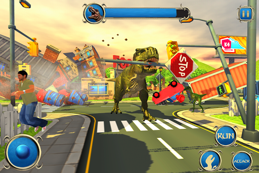 Wild Dino City Rampage: T-Rex Simulator apklade screenshots 1