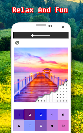 Landscape Coloring Book - Color By Number  screenshots 4