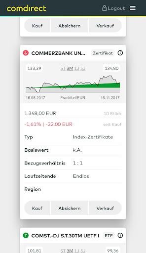 comdirect mobile App  screenshots 2