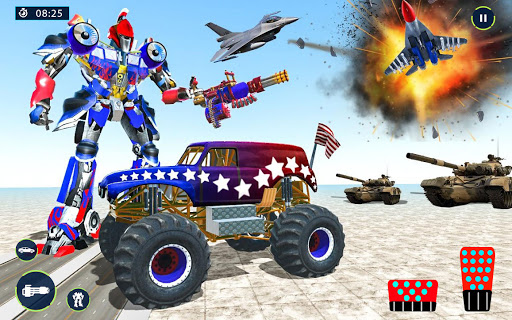 US Police Monster Truck Robot Transform apkpoly screenshots 7