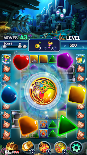 Jewel ocean world: Match-3 puzzle Apkfinish screenshots 20