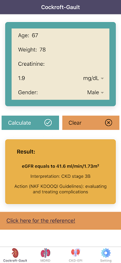 eGFR Calculators Pro: Renal or Kidney Function  screenshots 1