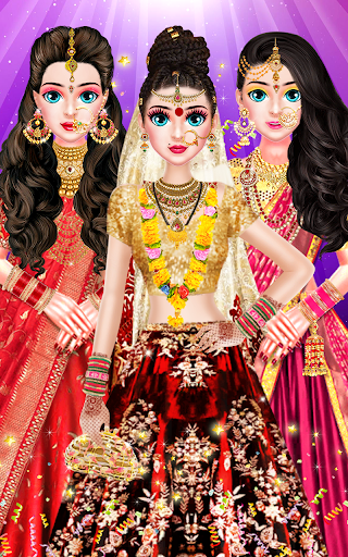 Indian Bride Stylist Dressup & Beauty Makeup Game screenshots 18