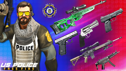 US Police Free Fire - Free Action Game modavailable screenshots 8