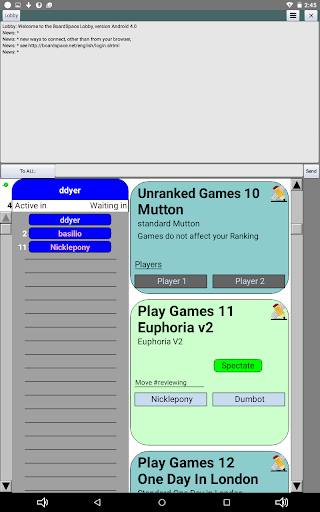 Boardspace.net apkslow screenshots 2