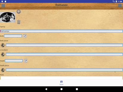 Genealogical trees of families screenshots 22