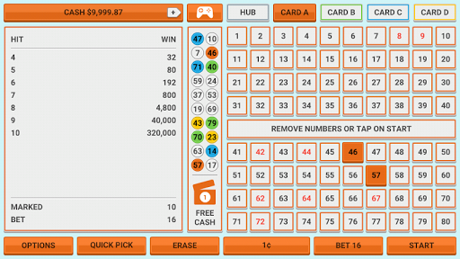 Colorful Keno: Las Vegas Casino Keno 4 Card Keno 1.7 screenshots 17