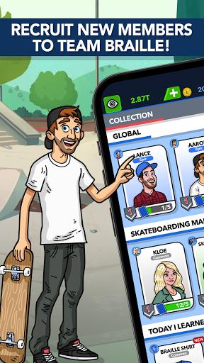 Braille Skateboarding Origins: Idle Skate Game apkdebit screenshots 2