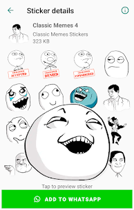 Classic Memes Stickers for WhatsApp WAStickerApps Apk Download 2021 4