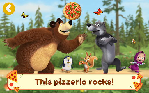 Masha and the Bear Pizzeria Game! Pizza Maker Game  screenshots 23