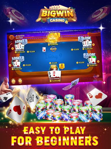 Big Win Casino - Lucky 9, Tongits, Pusoy 1.08 screenshots 2