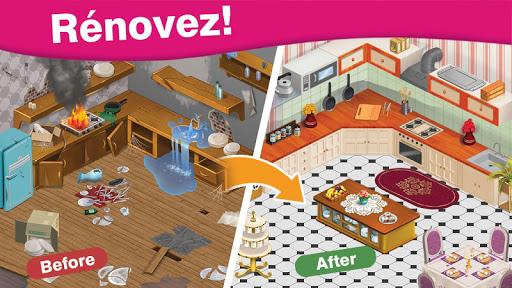 Télécharger gratuit Home Cafe : Conception du manoir - Match 3 blast APK MOD 1