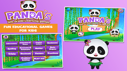 Panda 4th Grade Learning For Pc [free Download On Windows 7, 8, 10, Mac] 1