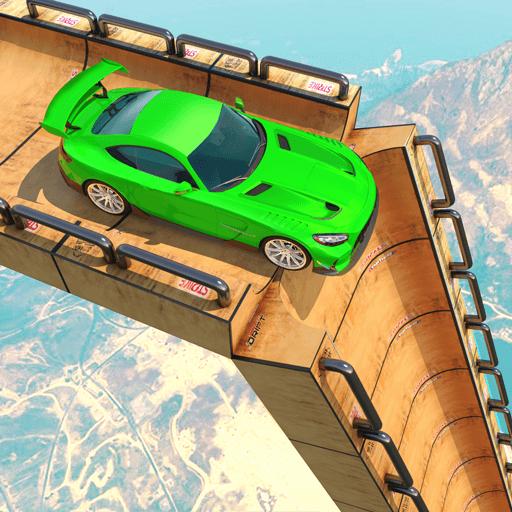 Superhero Mega Ramp Car Stunt