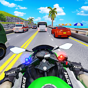 Police Moto Bike Highway Rider Traffic Racing Game