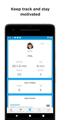 The Mindfulness App: relax, calm, focus and sleep screenshots 5