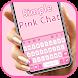 最新版、クールな Simple Pink Chat のテーマキーボード