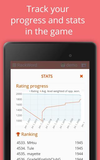 Rackword - Free real-time multiplayer word game screenshots 20